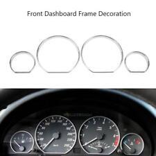Car Auto Interior Dashboard Meter Frame Ring Cover Trim 4pcs Set For BMW E46