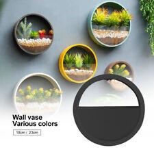 Flower Hanging Basket Bonsai Wall Planter Pot Home Wall Craft Decoration Round