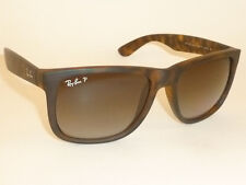 RAY BAN Justin Sunglasses Tortoise RB 4165 865/T5 Polarized Gradient Brown 54mm