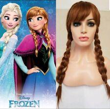 Frozen Fancy Dress Princess Anna of Arendelle Wig Frozen 2 Adult Child Auburn