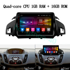 """16GB Android 9.1 GPS Navigation Stereo Radio 9"""" For Ford Kuga Escape 2013-2017"""