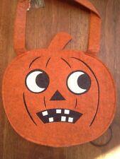 Bethany Lowe Felt Halloween Large Trick Or Treat Bag--Jack-o-Lantern--retired