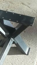 INDUSTRIAL CROSSED  METAL  BENCH  LEGS 40Cm tall 30cm wide and 110CM LONG