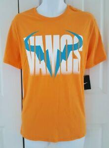 "NIKE Men`s Rafa Tennis T Shirt ""Vamos Blue Bull logo "" 850860-868"