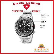 Men Watch  Swiss Legend Neptune Force ) Stainless Steel-Silicone Original Box !