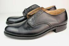 Deadstock 1967 Sportwelt Black Service Oxfords Low Quarter Uniform Shoes 10R