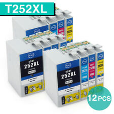 12x Ink Cartridges for Epson 252XL Workforce WF3620 WF3640 WF7620 WF7710 non-oem