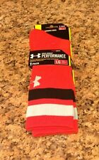 Under Armour UA Mens Crew Socks Clemson Performance HeatGear L Orange (9-12.5)