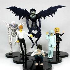 6pcs Death Note Gelus Nia Light Yagami Misa Ryuk Rem 6-16cm PVC Figure Loose