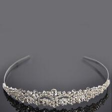 USA Women Wedding Bride Bridemaid Crystal Bridal Tiara Crown Headband Hairband