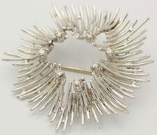 ♦Brillant Brosche in aus 585 14kt Weiß Gold mit Diamant Brillanten Anstecknadel♦