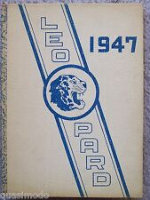 1947 LINCOLN HIGH SCHOOL YEAR BOOK LINCOLN, KANSAS THE LEOPARD  UNMARKED!
