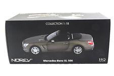 NOREV 2012 MERCEDES BENZ SL 500 DARK GREY MATT 1/18 DIECAST CAR 183590