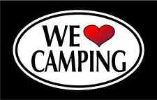 """NEW 5.75"""" WE LOVE CAMPING vinyl decal sticker. FAMILY"""