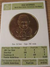 World Book 1966 Field Enterprises Bailey K Howard Franklin Mint Token Coin Medal