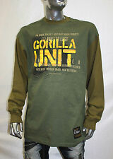 Men's G Unit Olive Long Sleeve Heavy Weight Tee Shirt