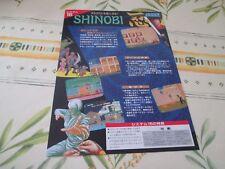 >> SHINOBI SEGA ARCADE ORIGINAL JAPAN HANDBILL FLYER CHIRASHI! <<