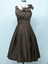 Cherlone Plus Size Brown Prom Ball Evening Formal Bridesmaid Wedding Dress 24-26