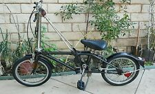 Vintage 1980s Dahon Stainless Steel 3 Speed Sturmey Archer Folding Bike Metallic
