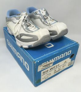 SHIMANO SH-WF21 Women's Lace-Up Spinning Shoes EU 36 US 5.1 White MSRP $80