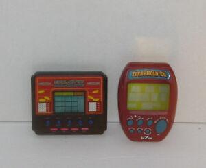 Lot of 2 Handheld Eloctronic Games Slot Machine & Texas Hold 'Em