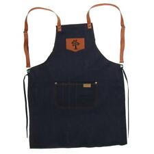 Jeans Cloth Apron Cape with Pocket for Kitchen Garden Waitress Cooking Chef