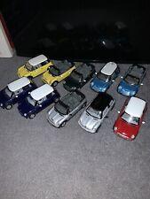 Kinsmart Mini Cooper S Convertible Cabrio Lot Of 10 New 1:28 1/28