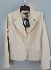 NWT Ilary Italy Giacca Light Camel Tailored Blazer Size 46 (US 6) MSRP $300