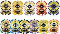 NEW 1000 PC Black Diamond 14 Gram Clay Poker Chips Bulk Lot Pick Your Chips