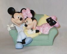 Mickey Mouse Minnie Precious Moments Couch Together Nicest Place Nwob Love Pjs