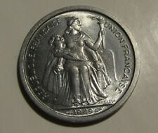 French Oceania 1949 2 Francs unc Coin