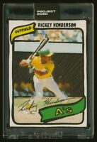 Topps PROJECT 2020 RICKEY HENDERSON by Joshua Vides card 14 IN-HAND