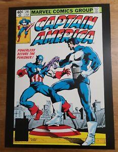 Captain America 241 Powerless before the Punisher Marvel Poster Frank Miller