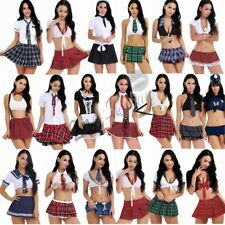 Nurse School Girl Sailor Uniform Costume Skirt Fancy Dress Lingerie Halloween