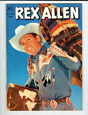 Dell Rex Allen #5 June-August 1952 vintage comic VG/FN photo front & back covers
