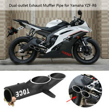 New Dual-outlet Exhaust Tail Pipe Muffler Tip For Yamaha YZF-R6 Suzuki GSX-R