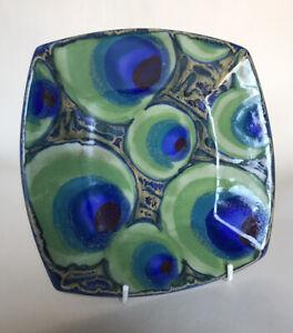 Dartington Studio Pottery 'Peacock' Dish - Janice Tchalenko