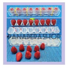 1pc 3D Strawberry Chocolate Soap Embeds Polycarbonate Mold Molder