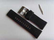 DIESEL Original Ersatzband Lederarmband DZ7377 Uhrband schwarz 28 mm watch strap