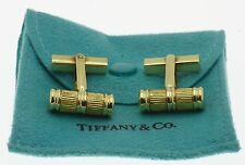 Rare! Authentic Tiffany & Co 18k Yellow Gold Atlas Column Bar Cufflinks w/ Pouch