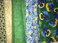 5 YARDS  Quilt Fabric Kit - Hoffman Pansy & others