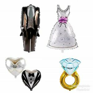 Wedding Foil Balloons Ring Mr & Mrs Supersize Engagement Party Married Dress