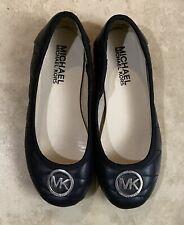 Michael Kors Mk Girl Flat Ballet Shoes Slip On Black