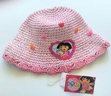 Dora the Explorer Boots Monkey Toddler Girls Pink Straw Hat Hearts Nick Jr. NWT