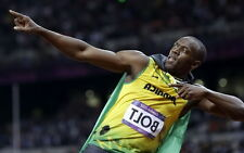 "040 Usain Bolt - 100 m Running Jamaica Game Champion Olympic 22""x14"" Poster"