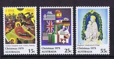 Australian Decimal Stamps 1979 Christmas (Set of 3) MNH