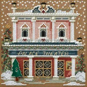 Palace Theater Cross Stitch Kit Mill Hill 2014 Buttons & Beads Winter