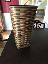 Rare Longaberger Signature Plaid Umbrella Stand /wastebasket 2010 With Protector