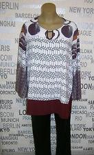 JEAN MARC PHILIPPE: Blusen Shirt CALOSI mehrfarbig, Gr. 52 NEU Lagenlook