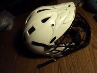 CASCADE CL2H Lacrosse Helmet ADULT SMALL White Field Hockey Helmet